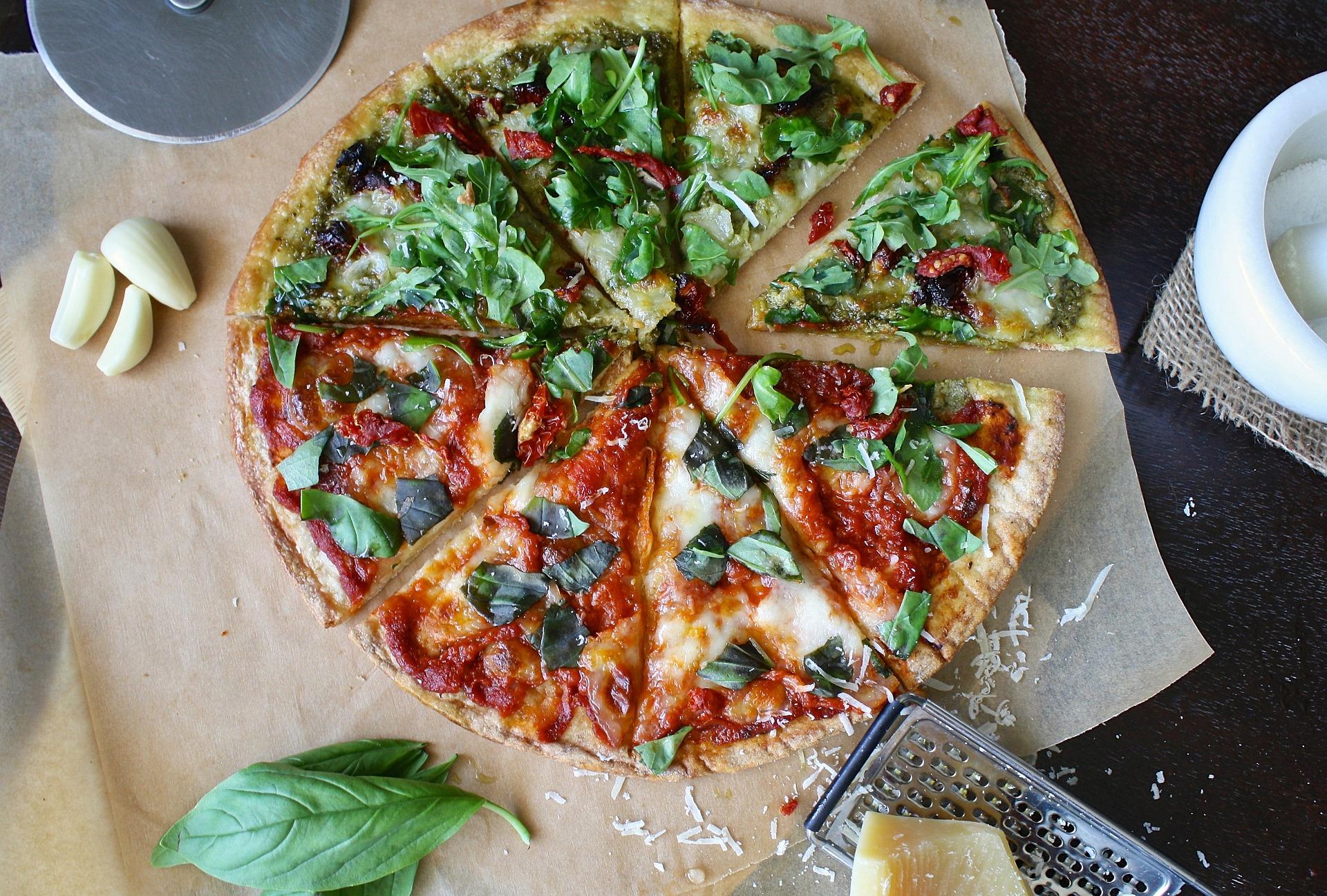 Pizza fatiada