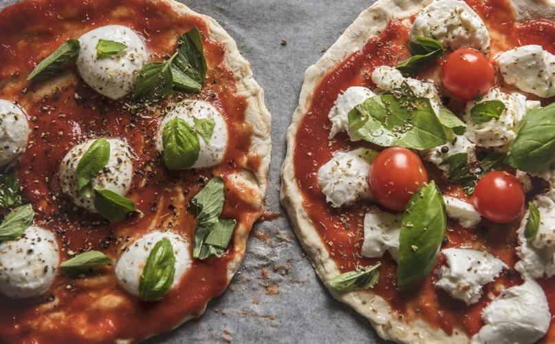 Duas pizzas