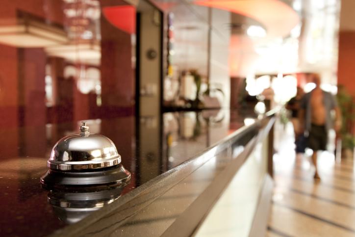 Recepção de hotel