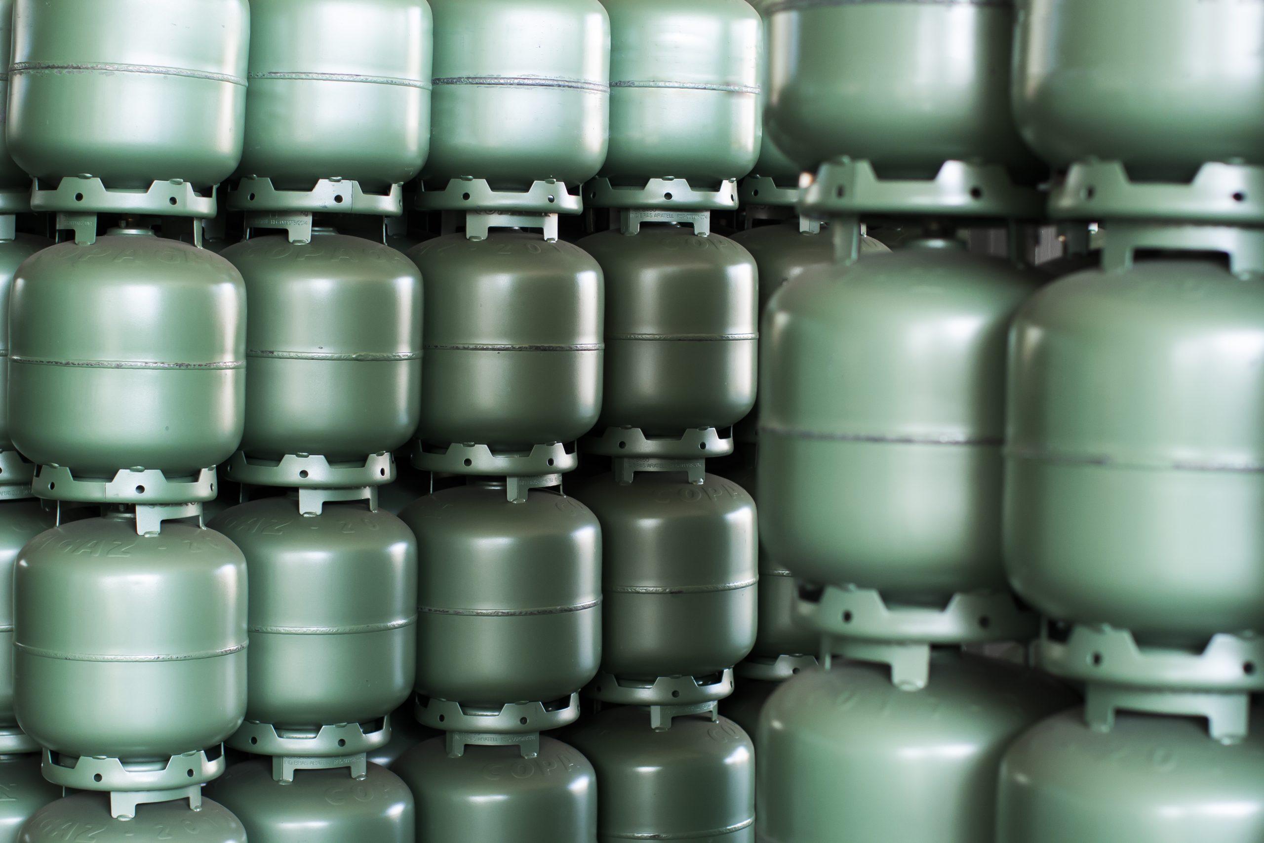 Botijões de gás da Copagaz