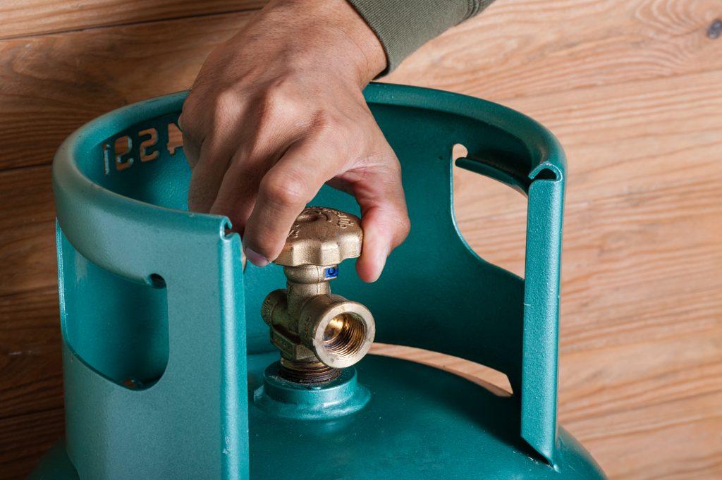 Válvula de segurança do botijão de gás